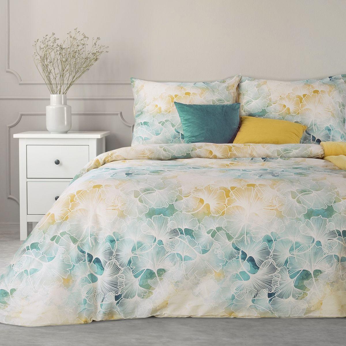 DomTextilu Exkluzívne krémové bavlnené posteľné obliečkys farebným ombré efektom 3 časti: 1ks 200x220 + 2ks 70x80 krémová 3 časti: 1ks 200x220 + 2ks 70x80 44581-208356