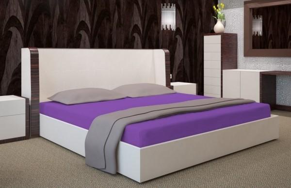 DomTextilu Fialové napínacie plachty na postele 7511-20384 Fialová Šírka: 180 cm | Dĺžka: 200 cm Fialová