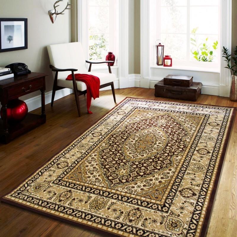 DomTextilu Hnedý vintage koberec do obývacej izby 17614-157624