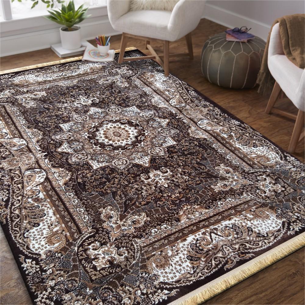 DomTextilu Hnedý vintage koberec s mandalou 26763-154872
