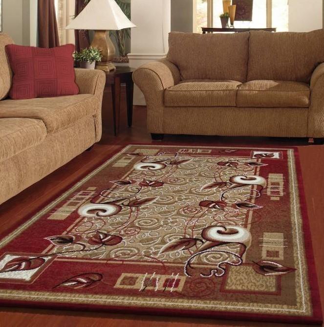 DomTextilu Koberce do obývačky červenej farby 12943-38053