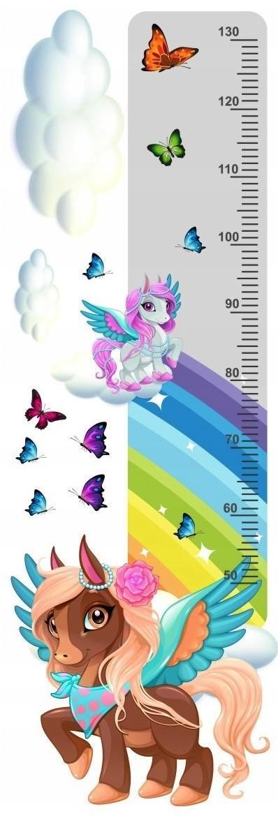 DomTextilu Krásna rozprávková nálepka na stenu pravítko my little pony 40 x 120 cm 46233