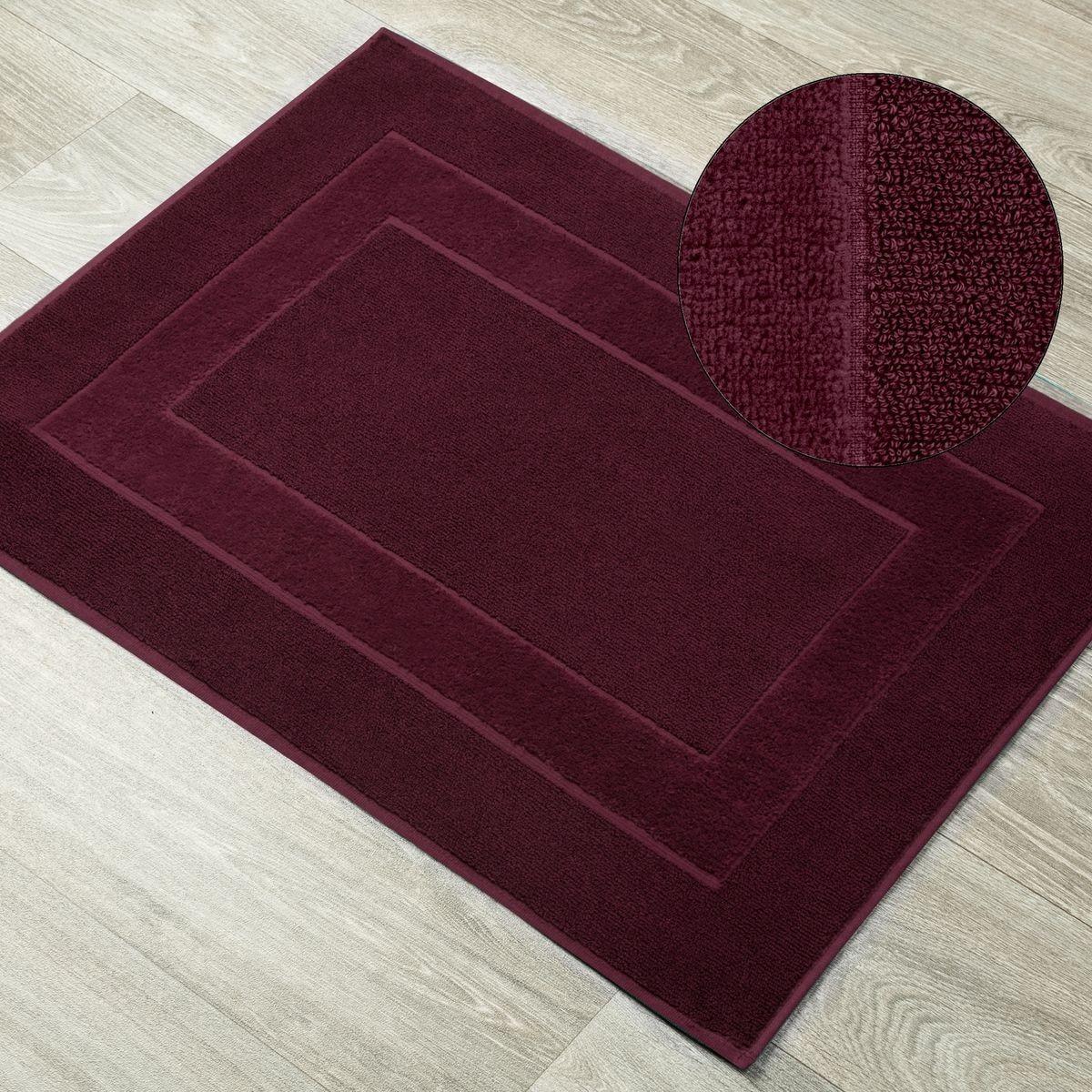 DomTextilu Kúpeľňový koberček z froté bavlny bordový 44535-208246 Bordová