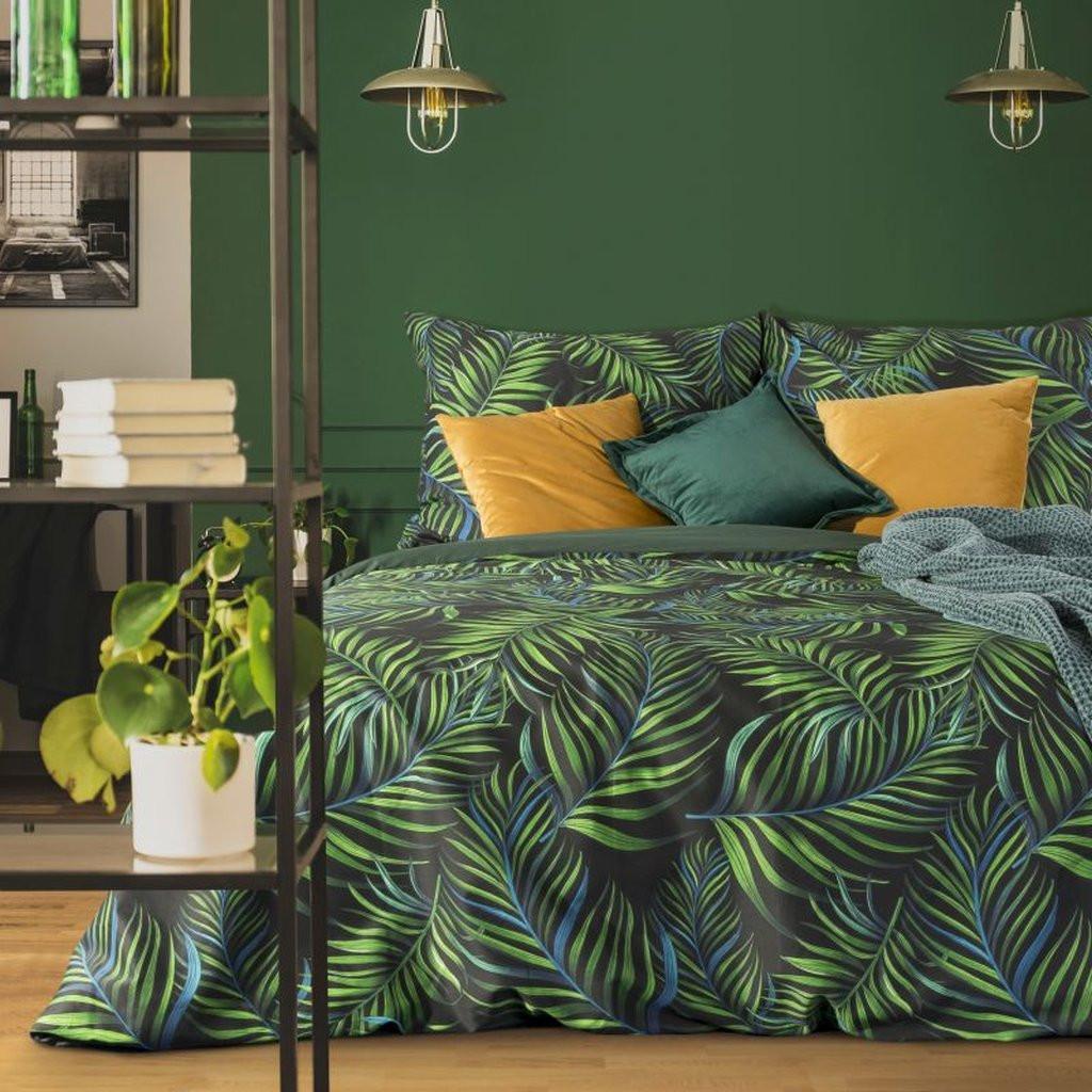 DomTextilu Kvalitné bavlnené posteľné obliečky zelenej farby 3 časti: 1ks 200x220 + 2ks 70 cmx80 Zelená 70x80 cm 29327-158806