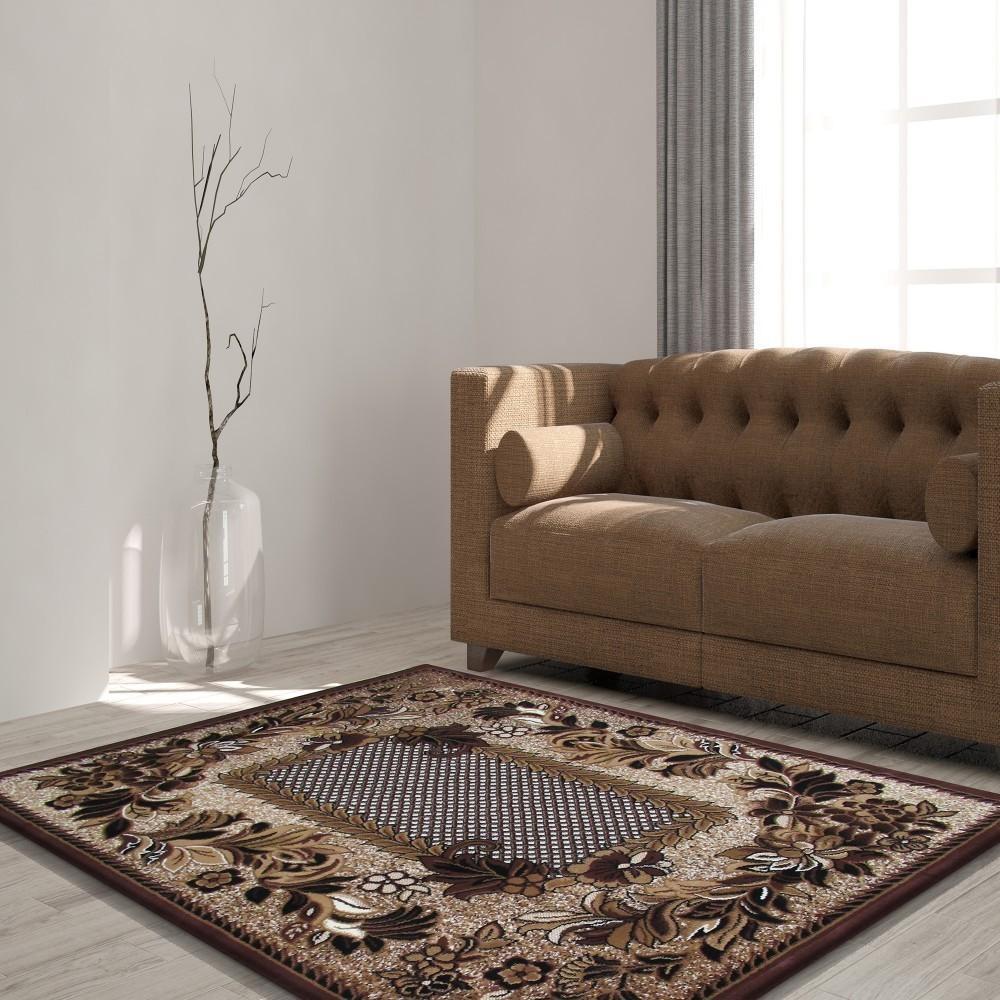 DomTextilu Kvalitný hnedý koberec do obývačky 19644-135257