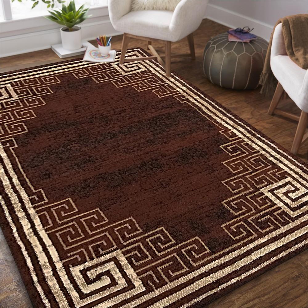 DomTextilu Kvalitný hnedý koberec do obývačky 40349-185073
