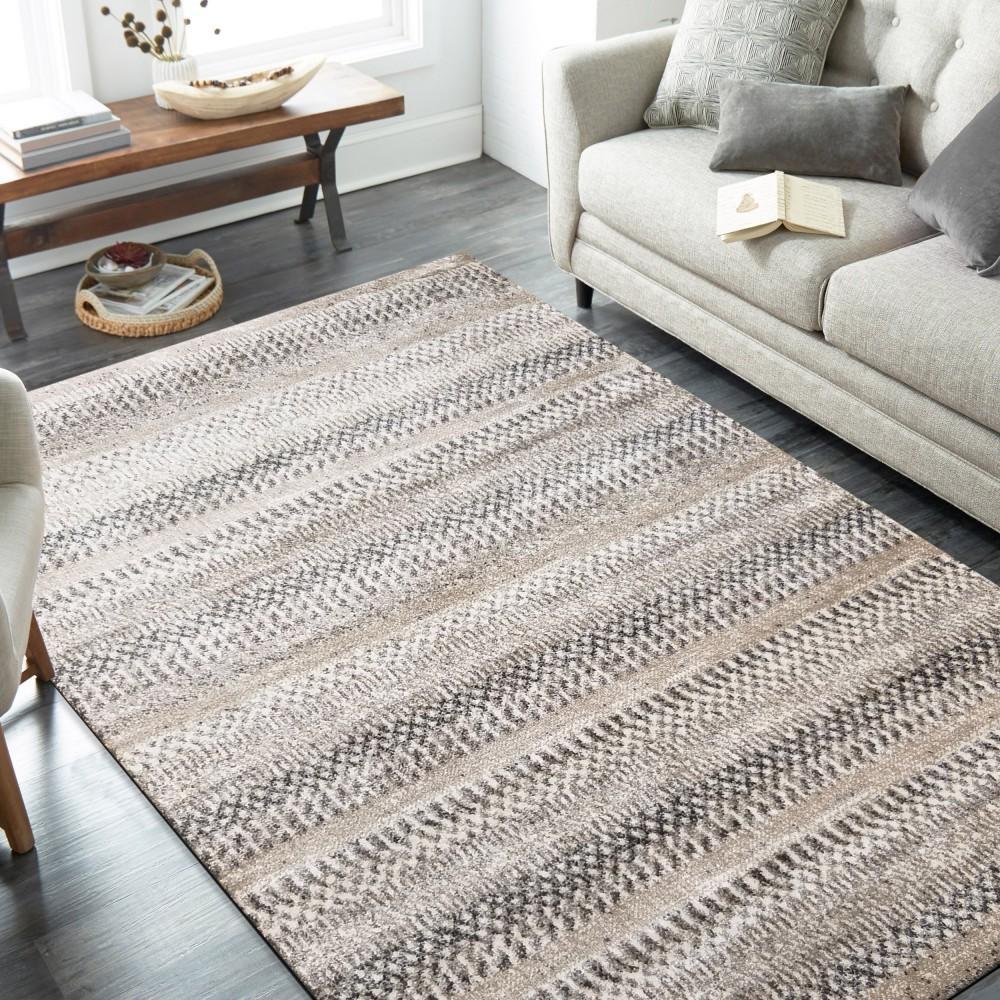 DomTextilu Kvalitný koberec s abstraktným vzorom v prírodných odtieňoch 44524-208193