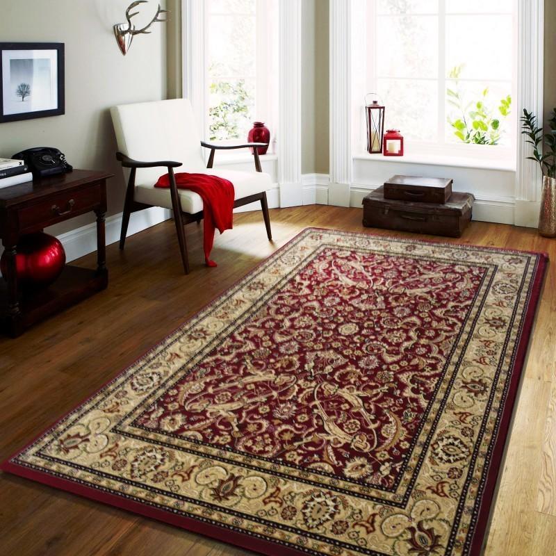 DomTextilu Kvalitný koberec v červenej farbe vo vintage štýle 17606-157315