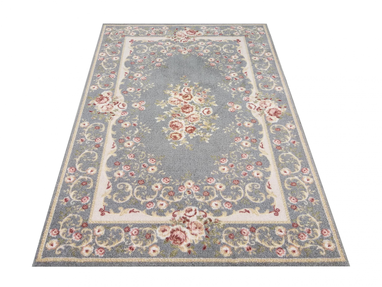 DomTextilu Kvalitný sivý vintage koberec do obývačky 40990-187495