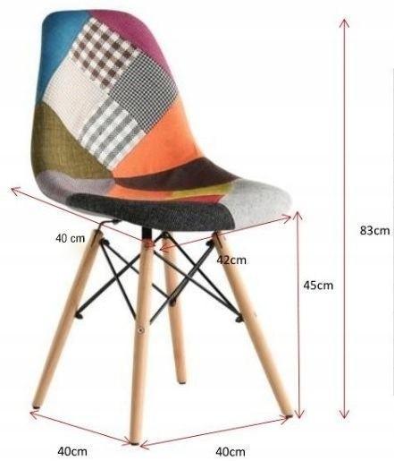 DomTextilu Moderná jedálenská stolička s čalunením patchwork 14845