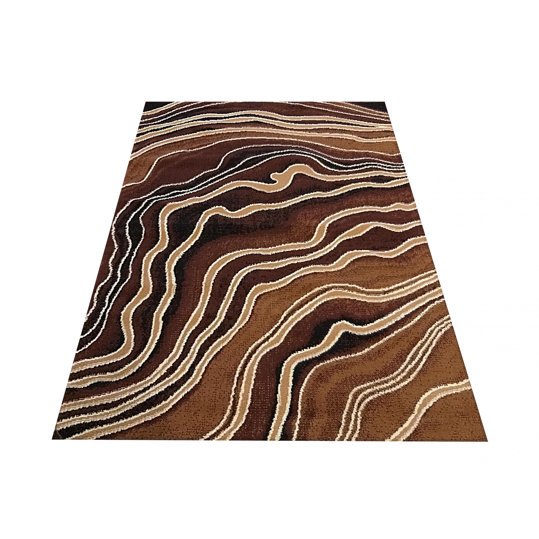 DomTextilu Moderný hnedý koberec s abstraktným motívom 40348-198574