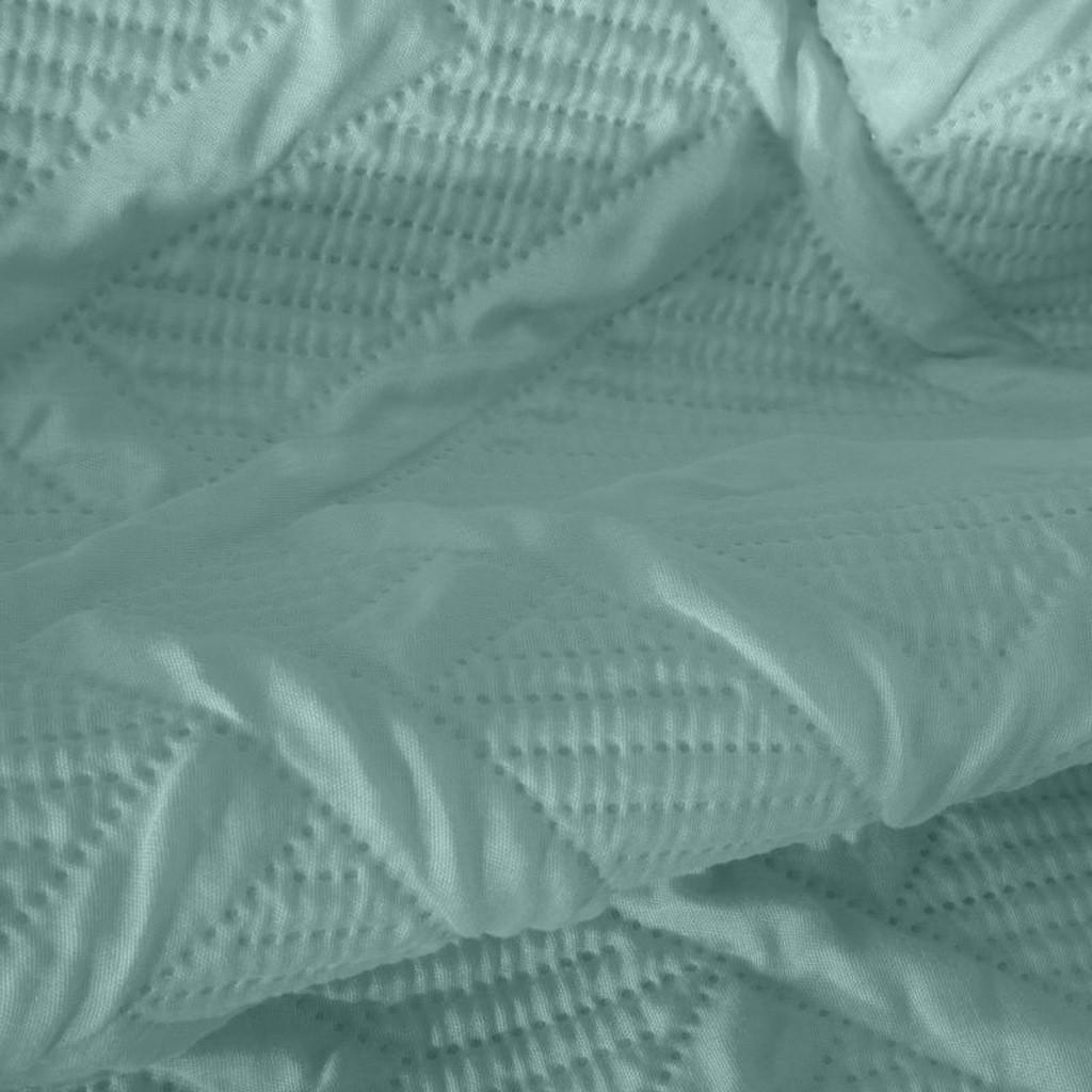 DomTextilu Moderný prehoz so vzorom v tyrkysovej farbe Šírka: 170 cm   Dĺžka: 210 cm 33783-164813