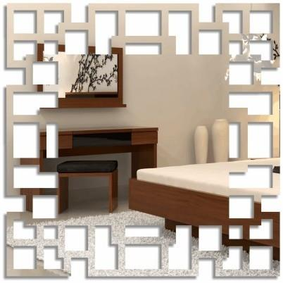 DomTextilu Nalepovacie štvorcové zrkadlá labyrint 8108