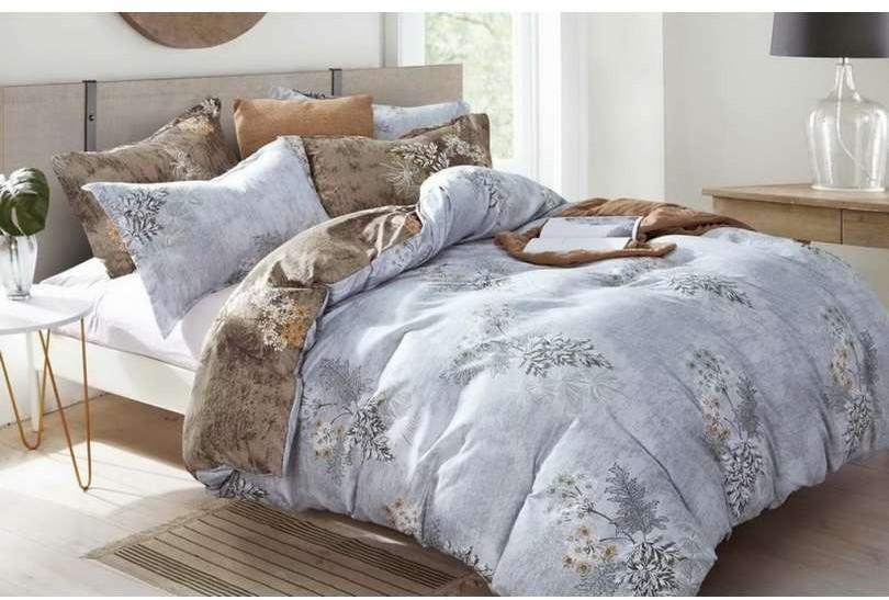 DomTextilu Obojstranné šedé romantické posteľné oblečenie s kvetmi 28775-156252