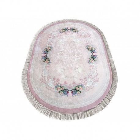 DomTextilu Oválny protišmykový koberec v ružovej farbe 41833-197205