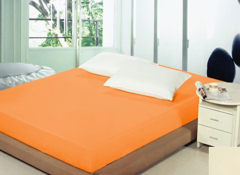 DomTextilu Prestieradlá na posteľ svetlo oranžovej farby Šírka: 180 cm   Dĺžka: 200 cm 5241-20173