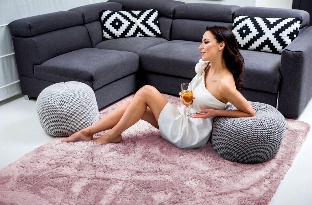DomTextilu Ružový kusový koberec plyšový 180 x 260 cm 17377