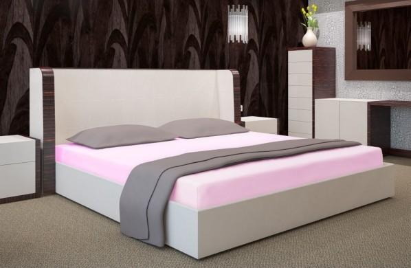 DomTextilu Svetlo ružové prestieradla na postele Šírka: 140 cm   Dĺžka: 200 cm 7507-20362