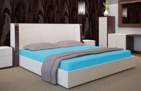 DomTextilu Tyrkysové prestieradlo na posteľ s gumičkou 7512-20390 Tyrkysová  90 cm x  200 cm