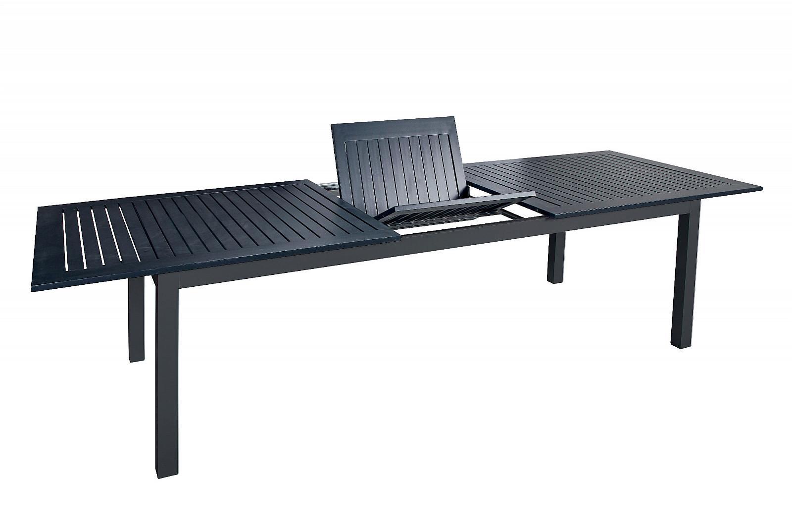 DOPPLER Hliníkový stôl rozkladací EXPERT 220/280x100 cm (antracit)