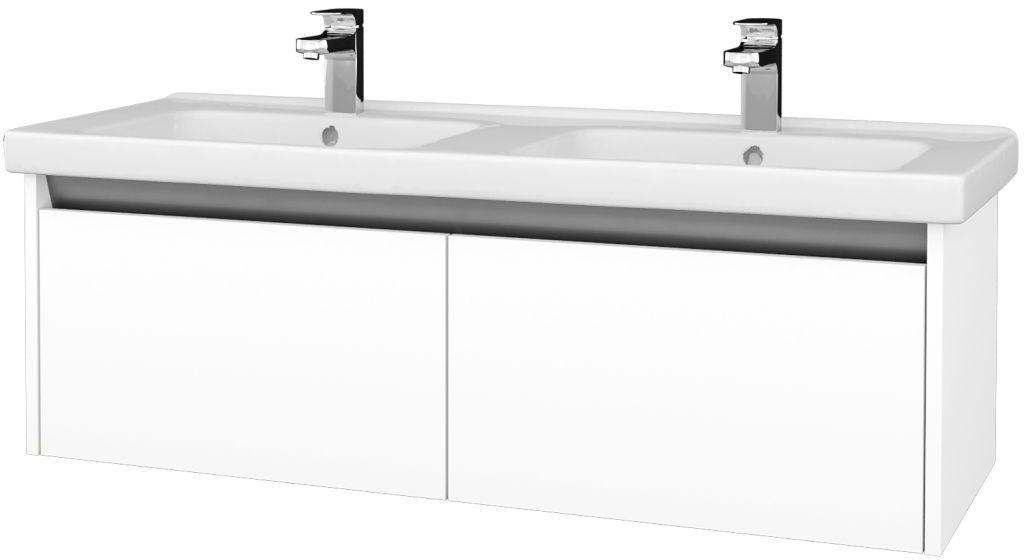 Dreja - Kúpeľňová skriňa BONO SZZ2 125 (umývadlo Harmonia) - N01 Bílá lesk / N01 Bílá lesk 204242