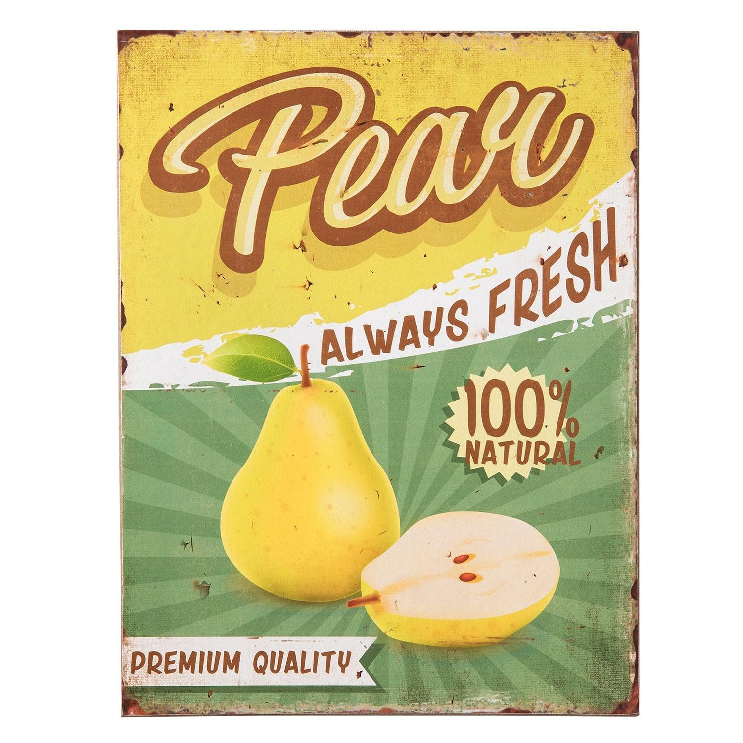 Drevená ceduľa Pear - 30 * 1 * 40 cm