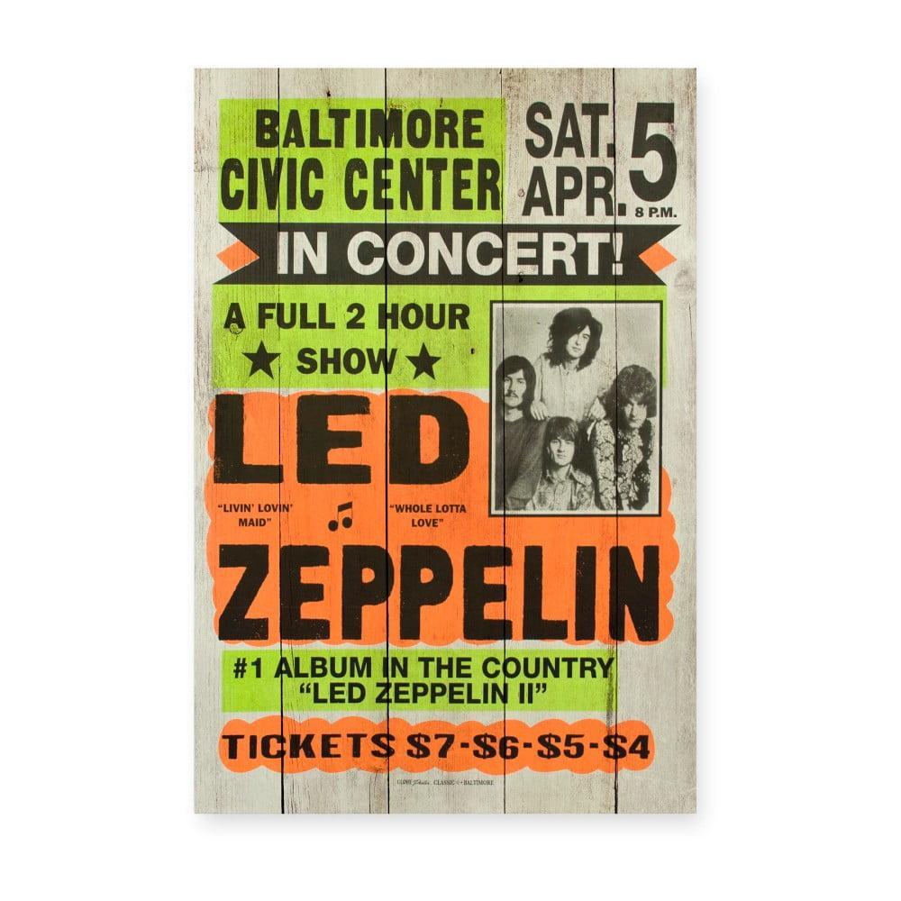 Drevená ceduľa Really Nice Things Led Zeppeling, 60 × 40 cm