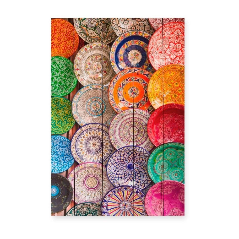 Drevená nástenná dekoratívna ceduľa Surdic Tabla Keramic, 40 × 60 cm