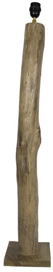 Drevená základňa ku stojacej lampe Eukalyptus - 18 * 18 * 100cm / E27