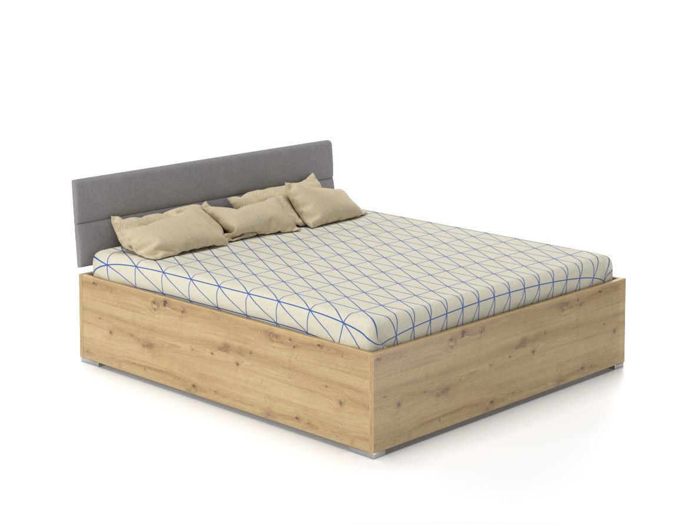 DREVONA03 Manželská posteľ 160x200 ROXI dub artisan