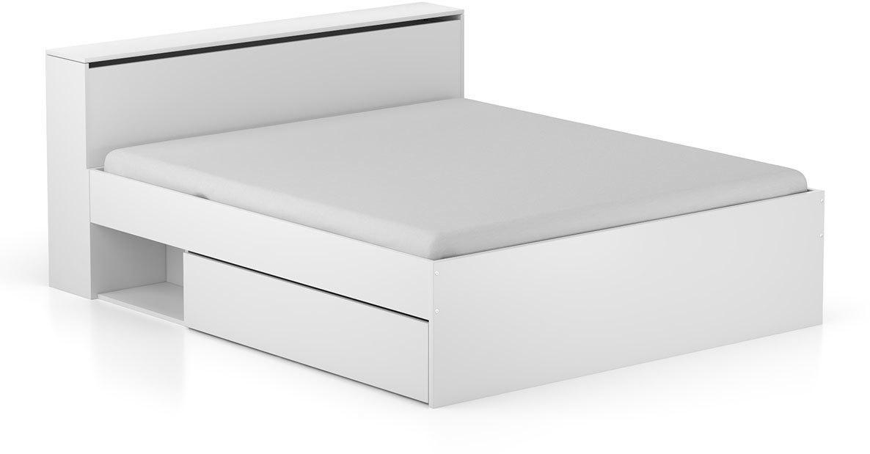 DREVONA03 Manželská posteľ biela 160 cm TEA