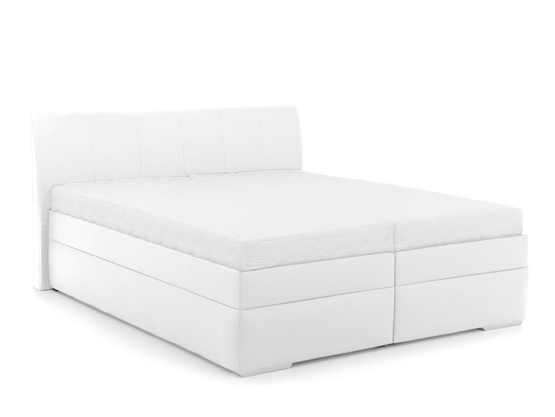 DREVONA03 Manželská posteľ biela koženka 160 x 200 SONIA, Eternity 11