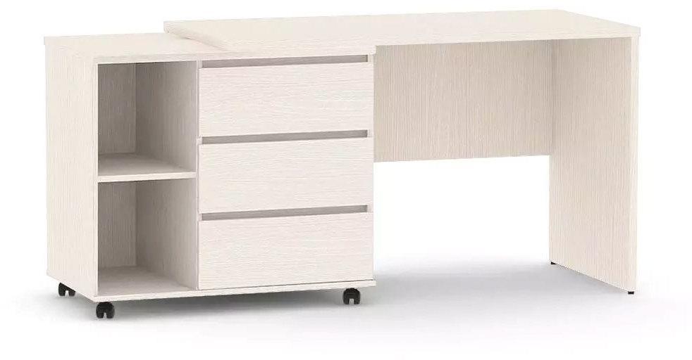 DREVONA09 Písací stolík s otočným kontajnerom navarra REA ROY ľavý
