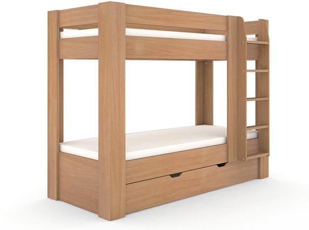 DREVONA09 Poschodová posteľ buk REA PIKACHU, pravá