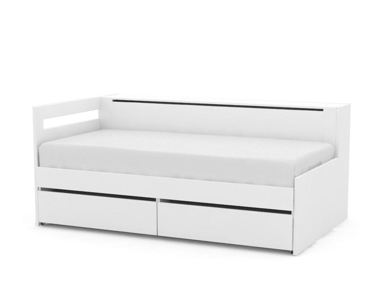 DREVONA09 Rozkladacia posteľ REA CROBAT biela