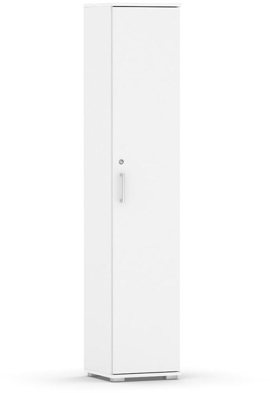 DREVONA09 Úzka skrinka biela REA OFFICE 505