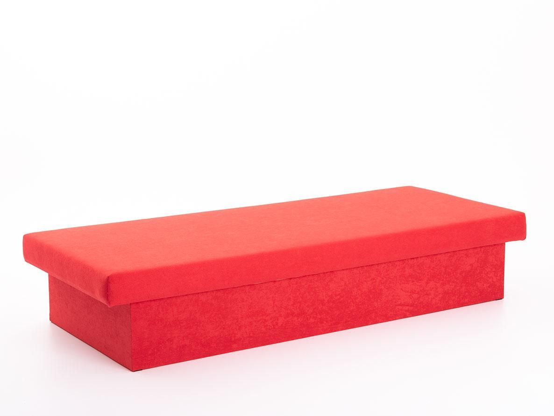 DREVONA31 Váľanda červená pružinová JANA, Vento X55, 195x80x38 New Red