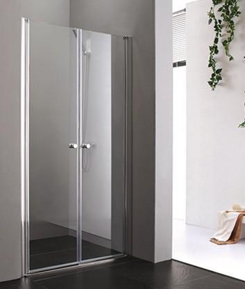 Dvere do sprchového kútu Aquatek GLASS B2 rám-chrom  - 90 / čire / Biela