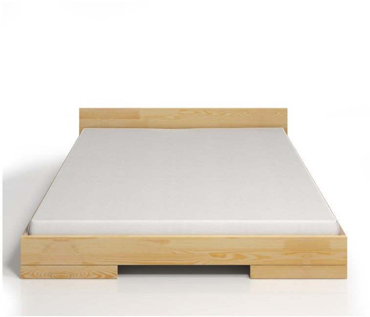 Dvojlôžková posteľ z borovicového dreva Skandica Spectrum, 140 × 200 cm