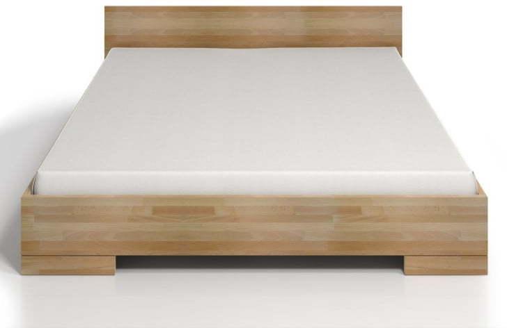 Dvojlôžková posteľ z bukového dreva s úložným priestorom SKANDICA Spectrum Maxi, 160 × 200 cm