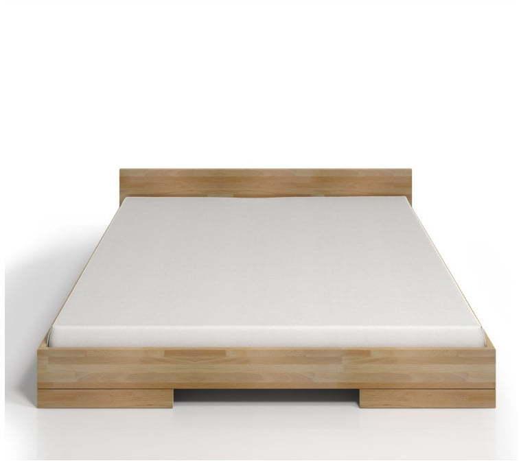 Dvojlôžková posteľ z bukového dreva SKANDICA Spectrum, 200 × 200 cm