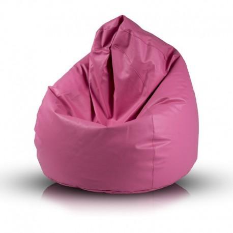 Ecopuf Sedací vak Ecopuf - Fuzzy - ekokoža E5 - Ružová
