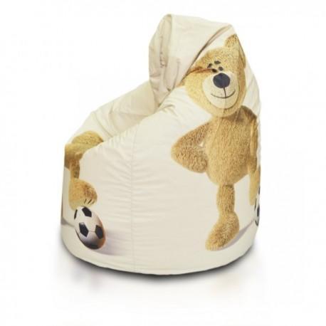 EF3001 Ecopuf Sedací vak ECOPUF - SAKO KIDS - plyš Medveď
