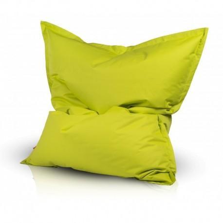 Ecopuf Sedací vankúš Ecopuf - PILLOW M polyester NC1 - Svetlo zelená