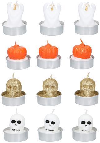 Edco Čajová sviečka HALLOWEEN 3ks MIX druhov