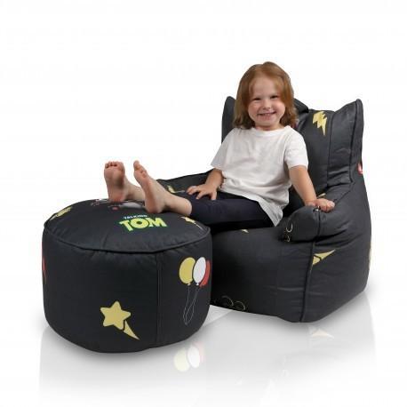 EF2062 Ecopuf Sedací vak Ecopuf -Seat TOM - Polyester Čierna