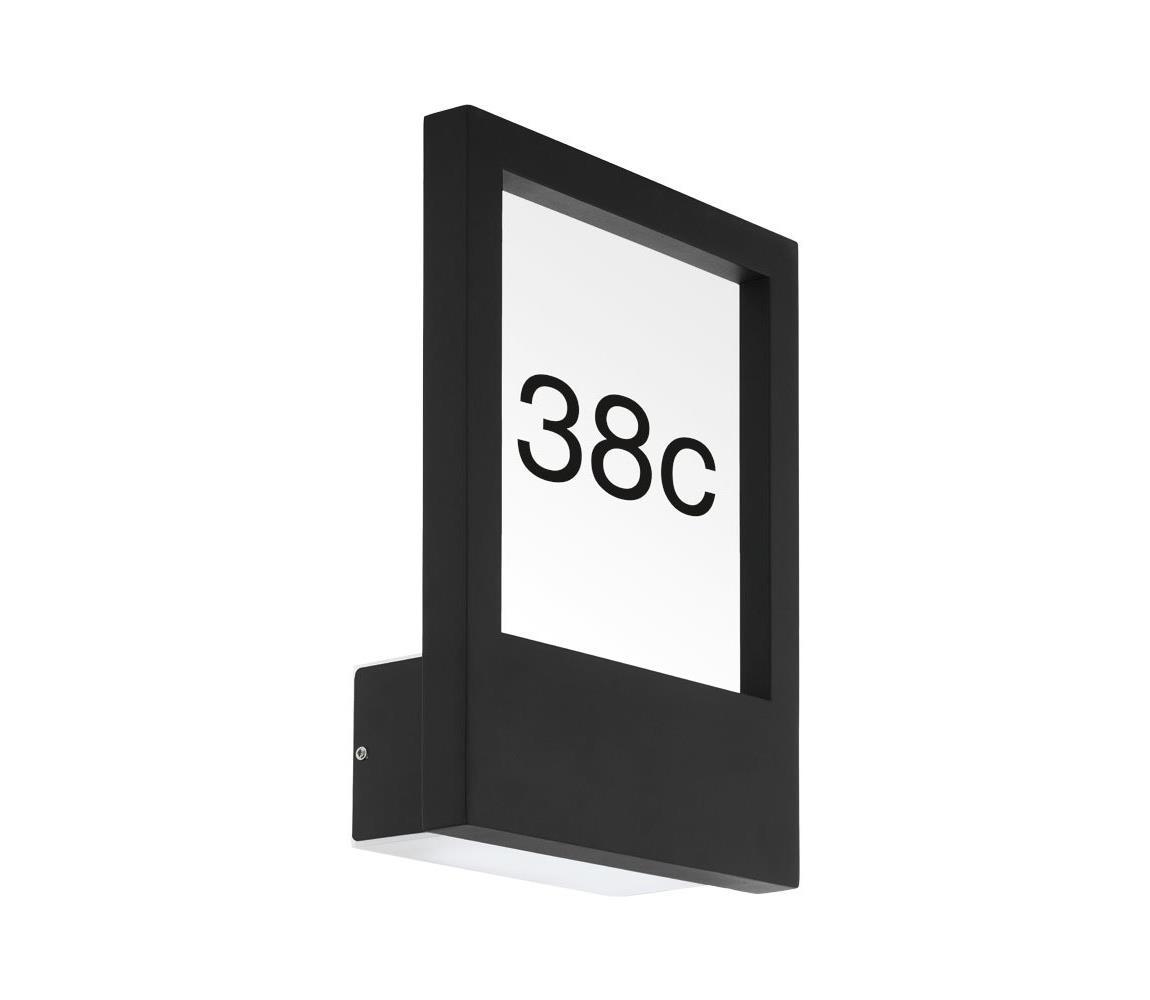 Eglo 98144 - Domové číslo MONTEROS 1xE27/28W/230V IP44 čierna