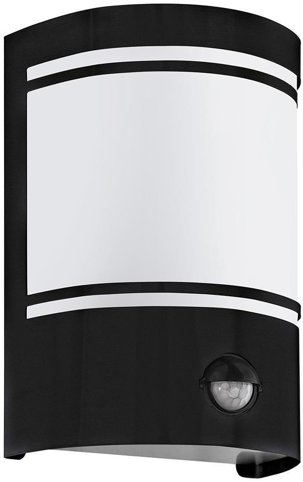 Eglo 99566 - Vonkajšie nástenné svietidlo so senzorom CERNO 1xE27/40W/230V IP44