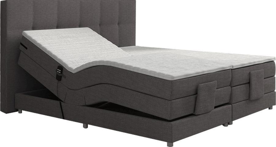 Elektrická polohovacia posteľ, boxspring, sivá, 180x200, MURKO