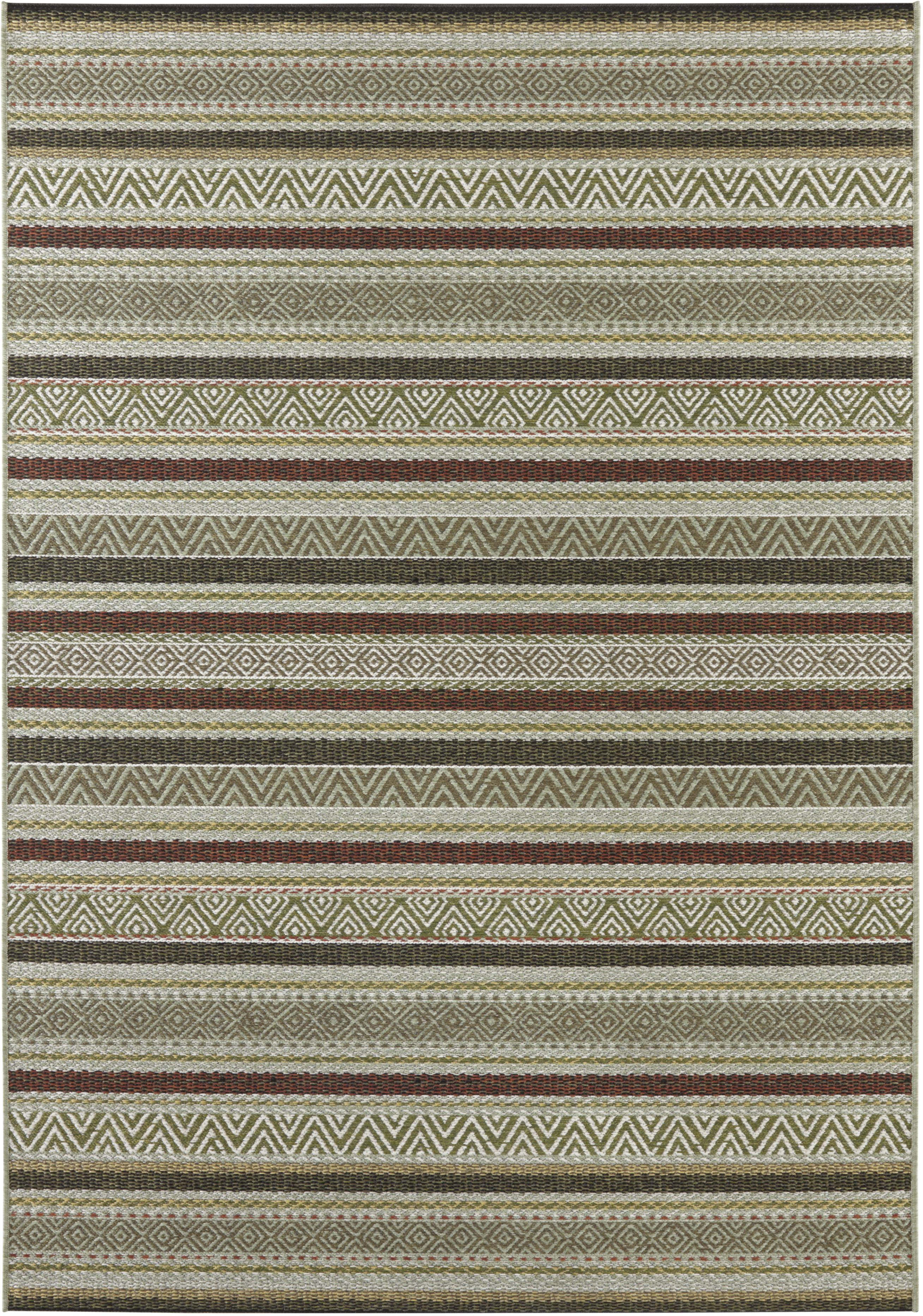 ELLE Decoration koberce Kusový koberec Bloom 103606 Green/Terra z kolekce Elle - 80x150 cm
